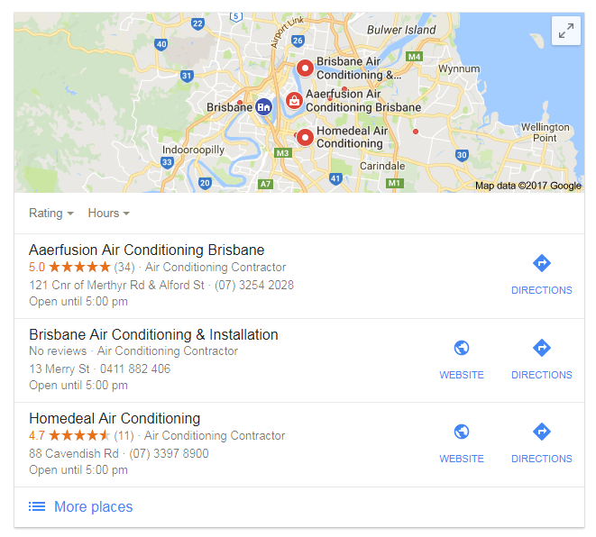 Google My Business Reults